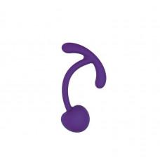 Фиолетовый вагинальный шарик с ограничителем