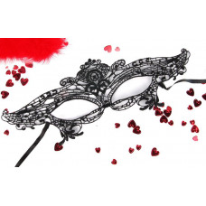 Черная ажурная текстильная маска Джулия