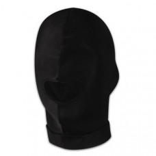 Черная эластичная маска на голову с прорезью для рта
