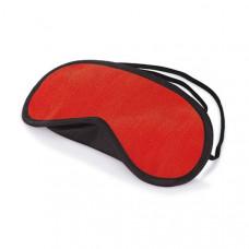 Красная маска на глаза с чёрным кантом