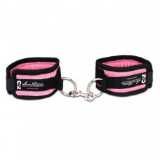 Бархатистые розовые наручники унисекс