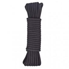 Черная хлопковая веревка для бондажа, 7 м