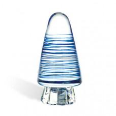 Мерцающий анальный конус с голубыми полосками