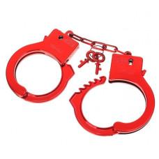 Красные пластиковые наручники  Блеск