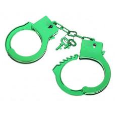 Зеленые пластиковые наручники  Блеск