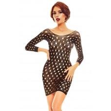 Эффектное короткое платье-сетка Ciao с длинными рукавами