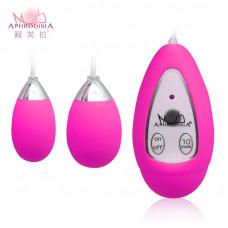 Розовые виброяйца Xtreme 10F Dual Eggs