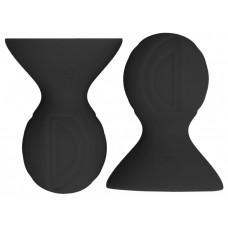 Черные накладки-присоски на соски Nipple suckers