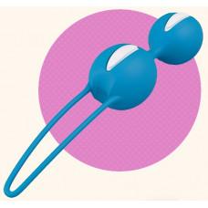 Ярко-голубые вагинальные шарики Smartballs Duo