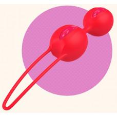 Ярко-оранжевые вагинальные шарики Smartballs Duo