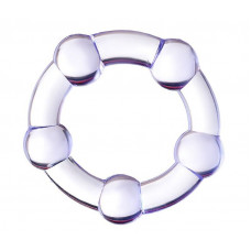 Фиолетовое эрекционное кольцо на пенис с бусинами