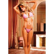 Розовый тедди Barbie с кольцами-сердечками