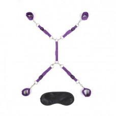 Фиолетовый набор фиксаций на кровати Classic Bedspreader