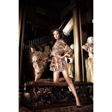 Леопардовое кимоно Beauty Inside The Beast