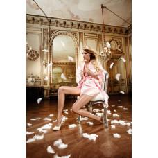Розовый сатиновый кимоно Back in Heaven