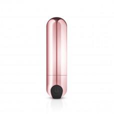 Золотистая вибропуля Rosy Gold Bullet Vibrator - 7,5 см.