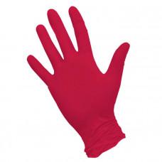 Красные нитриловые перчатки Nitrimax размера L - 100 шт.(50 пар)