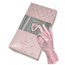Розовые нитриловые перчатки Safe Care размера L - 100 шт.(50 пар)