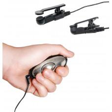 Черные электрические зажимы для сосков Shock Therapy Nipple Clamps