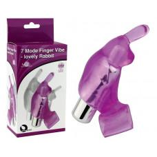 Фиолетовая вибронасадка на пальцы 7 Model Finger Vibe-lovely Rabbit