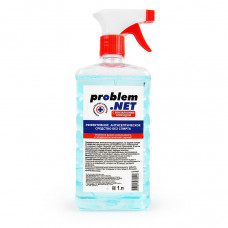 Универсальная антисептическая жидкость Problem.net в флаконе с распылителем - 1 л.