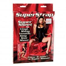 Красная виниловая простыня Super Strap Super Sheet