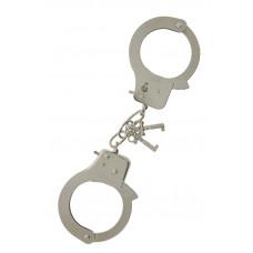 Металлические наручники с ключиками LARGE METAL HANDCUFFS WITH KEYS