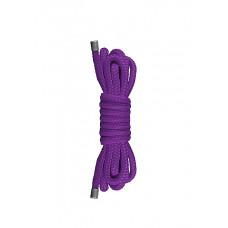 Фиолетовая нейлоновая веревка для бондажа Japanese Mini - 1,5 м.