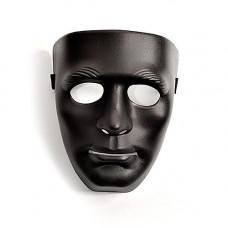 Чёрная маска из пластика