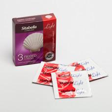 Ребристые презервативы Sitabella Light с возбуждающим эффектом - 3 шт.