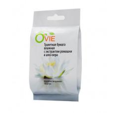Влажная туалетная бумага Ovie с экстрактом ромашки и алоэ вера - 15 шт.