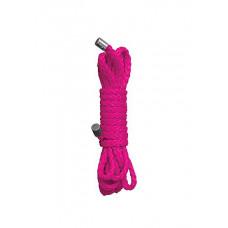 Розовая нейлоновая веревка для бандажа Kinbaku Mini - 1,5 м.