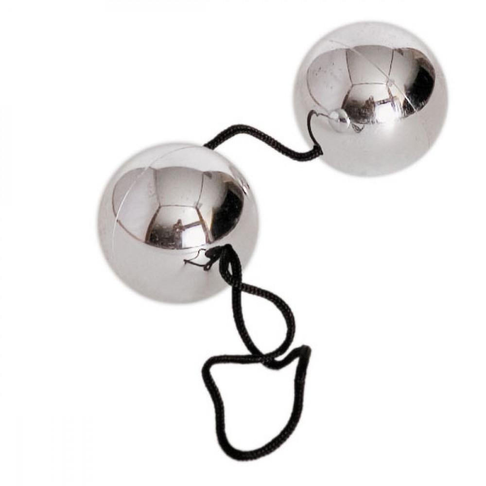 Серебристые вагинальные шарики BI-BALLS