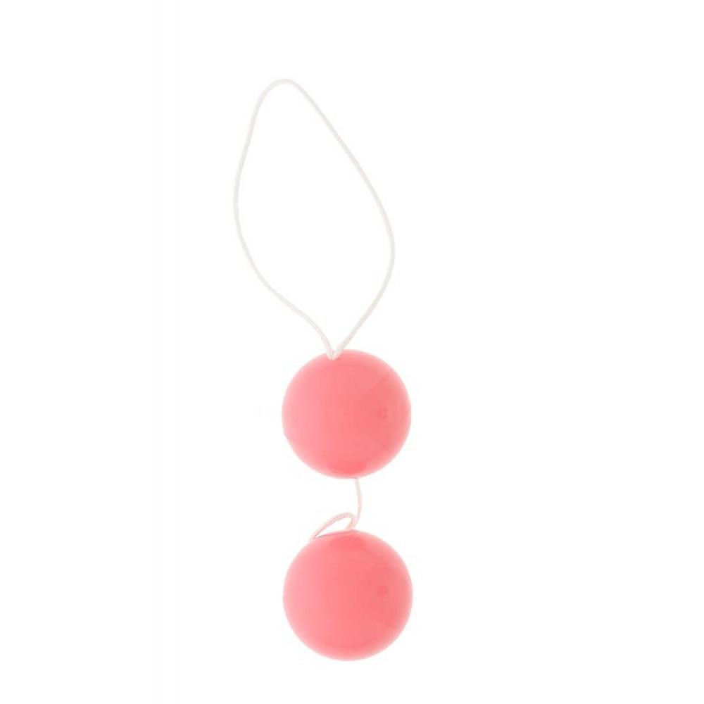 Розовые вагинальные шарики Vibratone DUO-BALLS