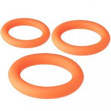 Набор из 3 оранжевых эрекционных колец NEON STIMU RING SET