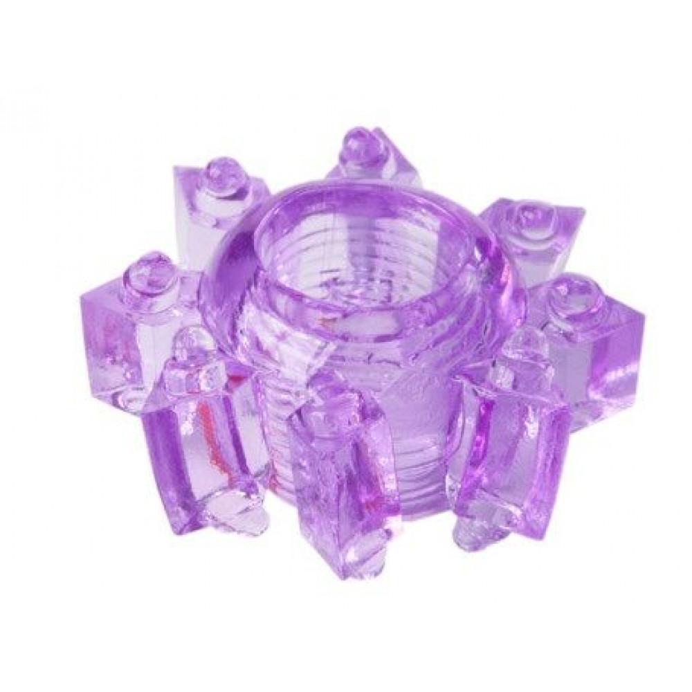 Фиолетовое гелевое эрекционное кольцо-звезда