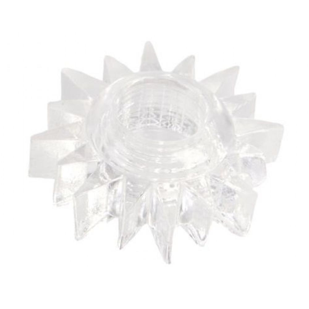Прозрачное гелевое эрекционное кольцо-солнце (ToyFa 818004-1)