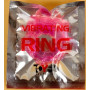 Толстое розовое эрекционное кольцо с вибратором