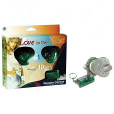 Прозрачный вибростимулятор на эластичных ремешках с дистанционным управлением Love in the nest