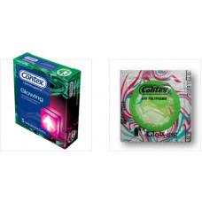 Презервативы светящиеся CONTEX №3 Glowing, 3 шт.