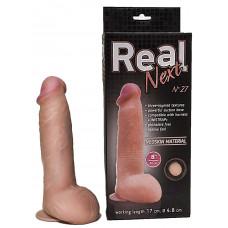 Реалистичный фаллоимитатор  на присоске REAL Next № 27 - 20 см.