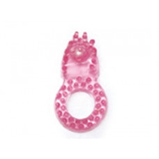 Розовое эрекционное кольцо со стимулятором для клитора