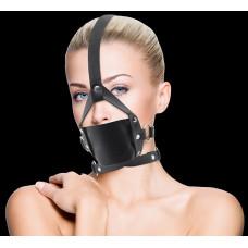 Чёрный кожаный кляп Leather Mouth Gag