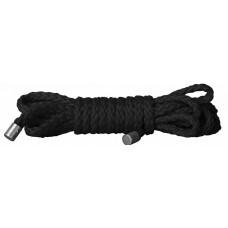 Чёрная веревка для бондажа Kinbaku Mini - 1,5 м.