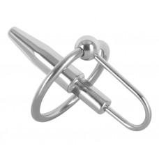 Зонд для уретры с подвижным кольцом Penisplug mit Eichelring