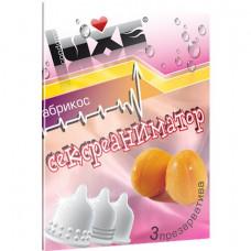 Презервативы Luxe  Сексреаниматор  с ароматом абрикоса - 3 шт.