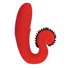 Красный силиконовый стимулятор