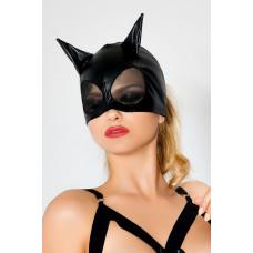 Чёрная маска с ушками и сеткой
