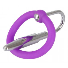 Уретральный плаг с силиконовым кольцом под головку Penis Plug