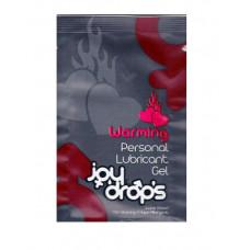Пробник разогревающей смазки JoyDrops Warming - 3 мл.